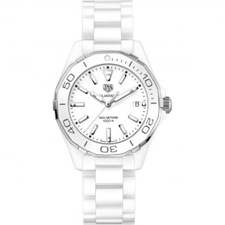 Aquaracer Lady 300M Full White Ceramic Quartz Watch
