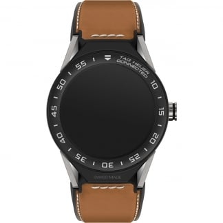Connected II Tan Leather Ceramic Bezel Titanium Watch