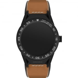Connected II Tan Leather matte Ceramic Bezel Watch