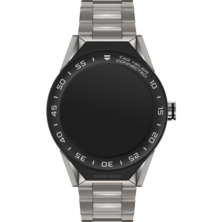TAG Heuer Connected Modular 45 Titanium Ceramic Bezel Watch SBF8A8001.10BF0608
