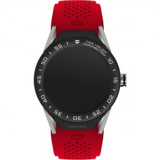 Connected II Titanium Red Rubber Ceramic Bezel Watch