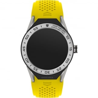 Connected II Yellow Silicone Steel Bezel Watch