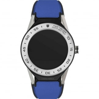 Connected Modular 41mm Blue Calfskin Strap Watch