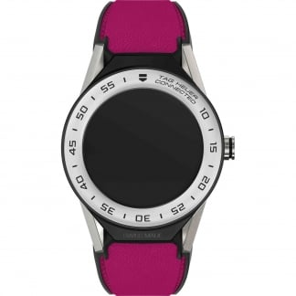 Connected Modular 41mm Pink Calfskin Strap Watch