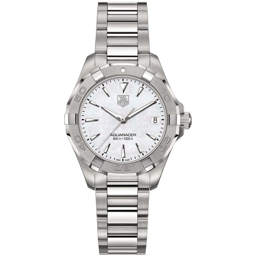 TAG Heuer Ladies 32mm mother of Pearl Quartz Aquaracer Watch WAY1312.BA0915