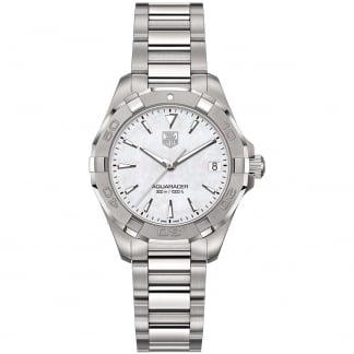 Ladies 32MM Mother of Pearl Quartz Aquaracer Watch WAY1312.BA0915