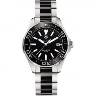 Ladies Aquaracer 35MM Black Ceramic Quartz Watch