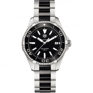 Ladies Aquaracer Diamond Bezel 35MM Ceramic Quartz Watch WAY131G.BA0913