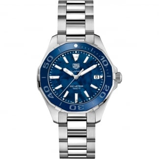 Ladies Aquaracer Quartz Blue mother of Pearl Dial Watch