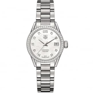 Ladies Calibre 9 Automatic 28MM Diamond Carrera Watch WAR2415.BA0776