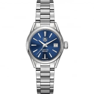 Ladies Carrera 28mm Blue Dial Calibre 9 Automatic Watch