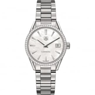 Ladies Carrera Diamond Bezel 32MM Quartz Watch