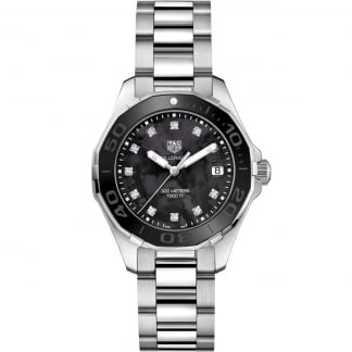 Ladies Diamond Black MoP Dial Aquaracer 300M Quartz Watch