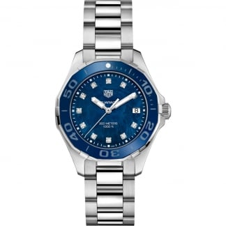 Ladies Diamond Blue MoP Dial Aquaracer 300M Quartz Watch