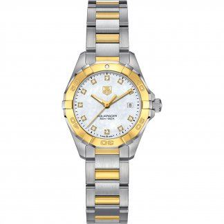 Ladies Diamond Inlaid Two Tone 30ATM Aquaracer Watch WAY1451.BD0922