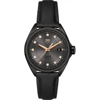 Ladies Black PVD Formula 1 Diamond 32mm Quartz Watch