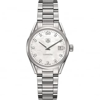 Ladies Quartz Carrera 32mm Diamond MoP Watch