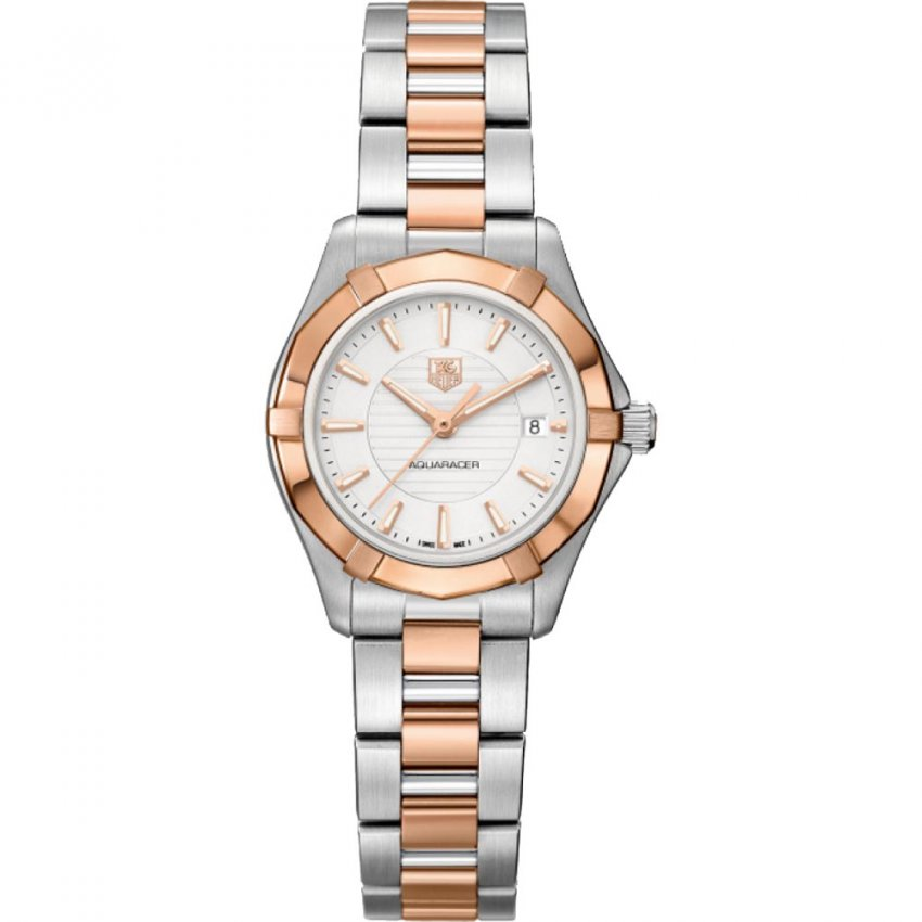 TAG Heuer Ladies Swiss Made Aquaracer 200m Dual Tone Watch WAP1450.BD0837