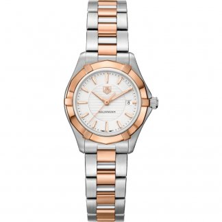 Ladies Swiss Made Aquaracer 200M Dual Tone Watch