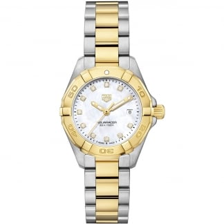 Ladies Two Tone Aquaracer Diamond Small Lady Watch