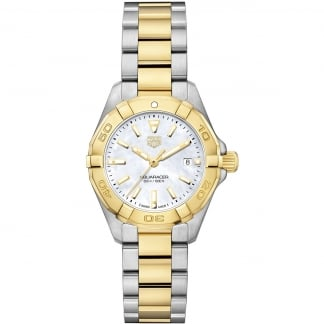 Ladies Two Tone Aquaracer Quartz Small Lady Watch