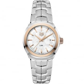 Link Lady Quartz 32MM Watch With Rose Gold Detail