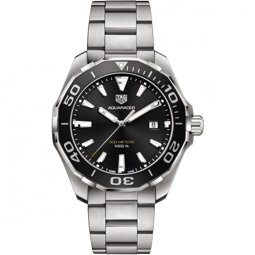 TAG Heuer Men's Aquaracer 43mm Quartz Aluminium Bezel Watch WAY101A.BA0746