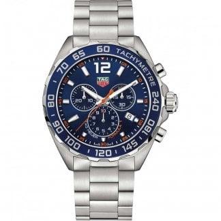 f9d55a21bef Men's Blue Dial 43mm Formula 1 Quartz Chronograph Watch · TAG Heuer ...