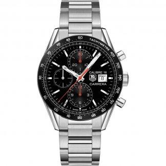 Men's Carrera Calibre 16 Steel Chronograph Watch CV201AK.BA0727