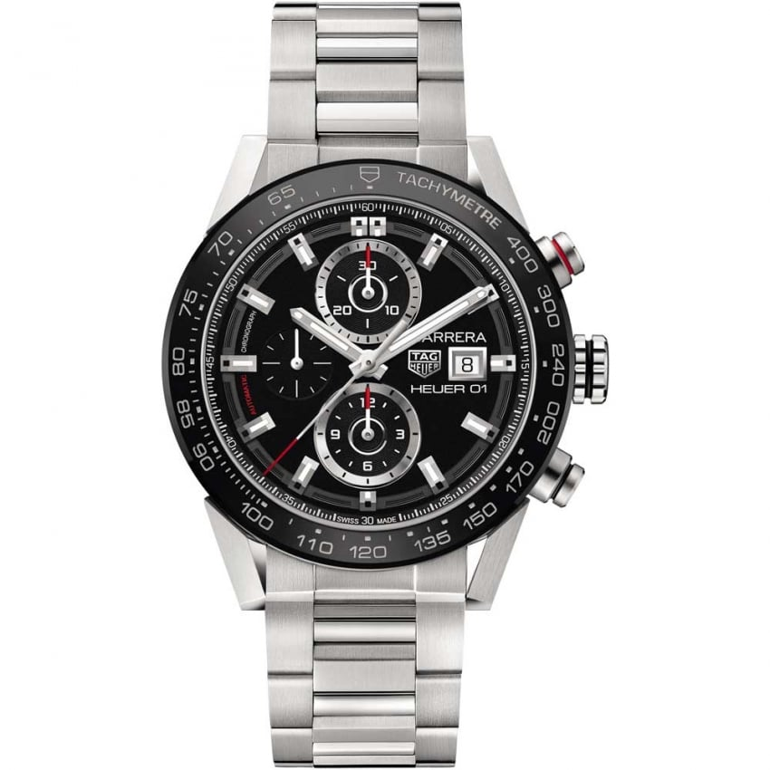 TAG Heuer Men's Carrera Heuer-01 Automatic Steel Chronograph Watch CAR201Z.BA0714