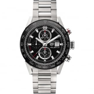 Men's Carrera HEUER O1 Automatic Steel Chronograph Watch CAR201Z.BA0714