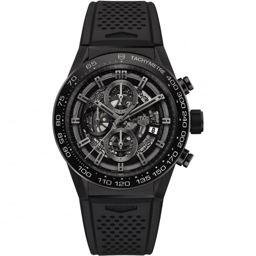 TAG Heuer Men's Carrera Heuer-01 Ceramic Automatic Skeleton Watch CAR2A90.FT6071