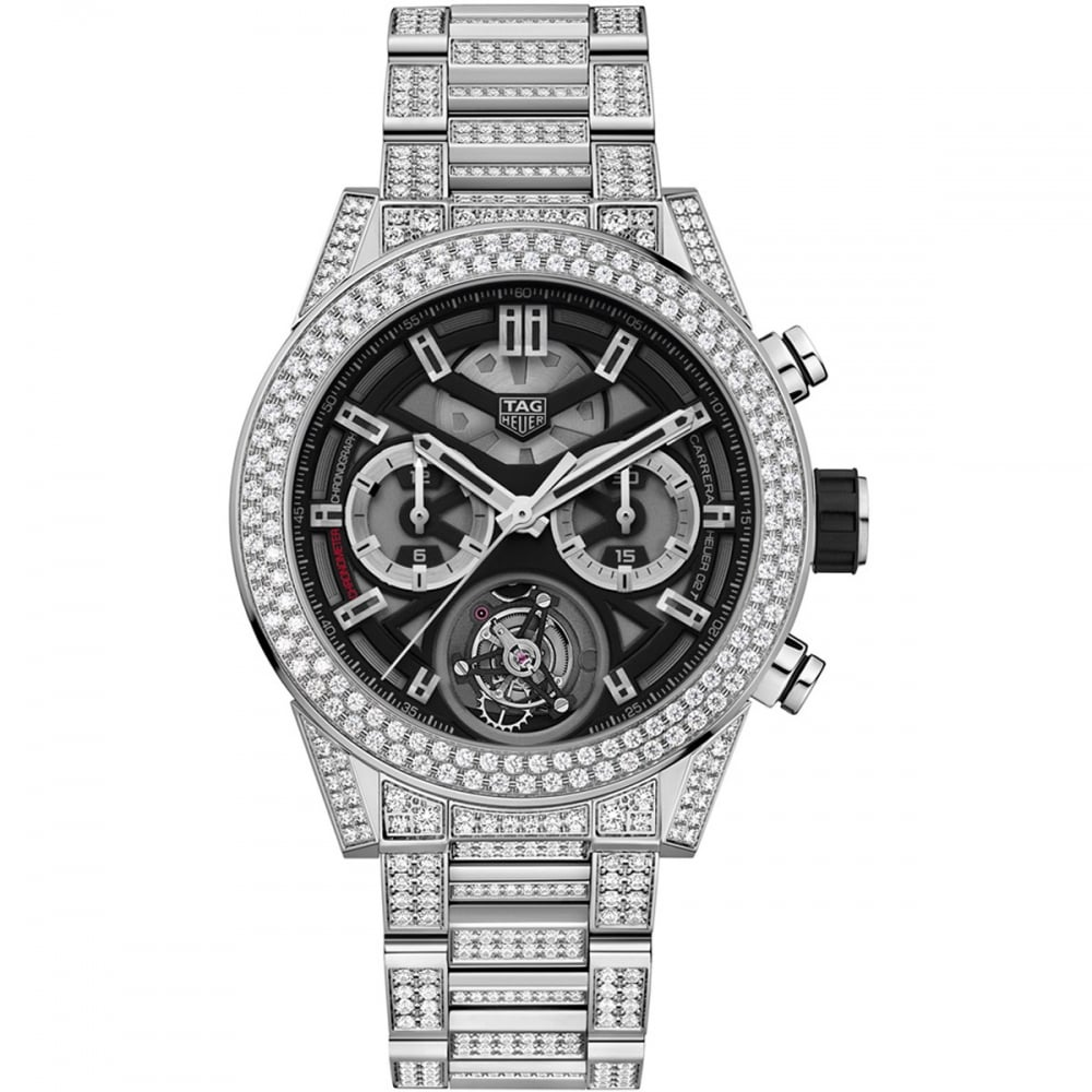 162c5b83ce577 TAG Heuer Men s Carrera Heuer-02T Tourbillon 6.5ct Diamond Set Watch  Product Code  CAR5A1Z.BA0510