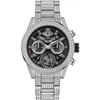 Men's Carrera Heuer-02T Tourbillon 6.5ct Diamond Set Watch