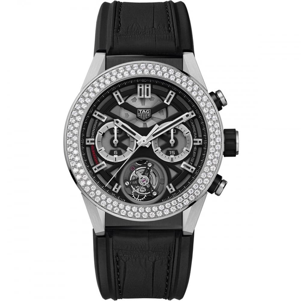 c19497ca44851 TAG Heuer Men s Carrera Heuer-02T Tourbillon Diamond Titanium Watch Product  Code  CAR5A80.FC6377