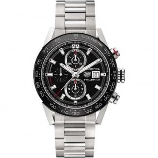 Men's Carrera HEUER O1 Automatic Steel Chronograph Watch CAR201Z.BA0714