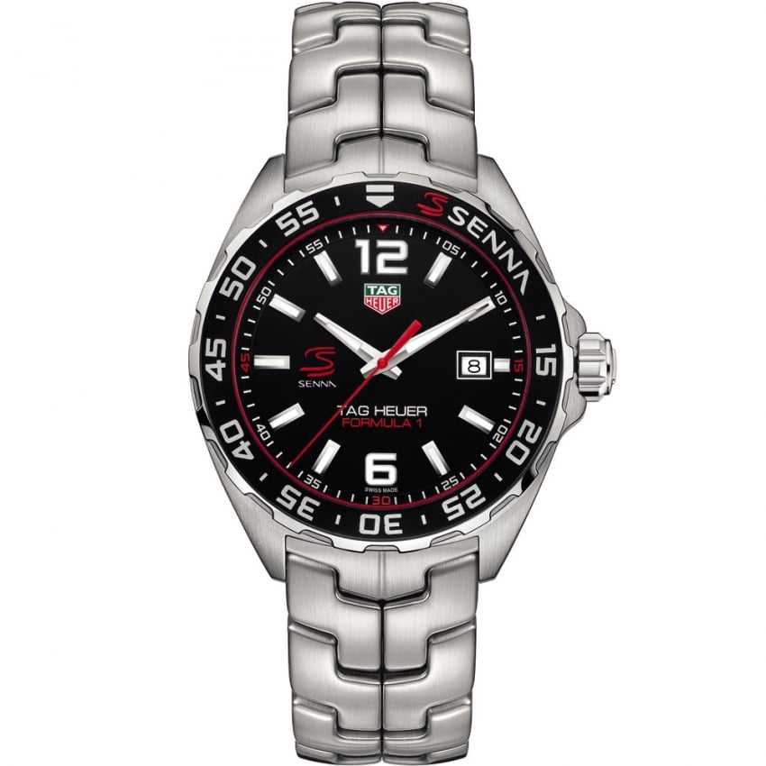 tag heuer men 39 s special edition senna quartz formula 1 watch watches from francis gaye. Black Bedroom Furniture Sets. Home Design Ideas