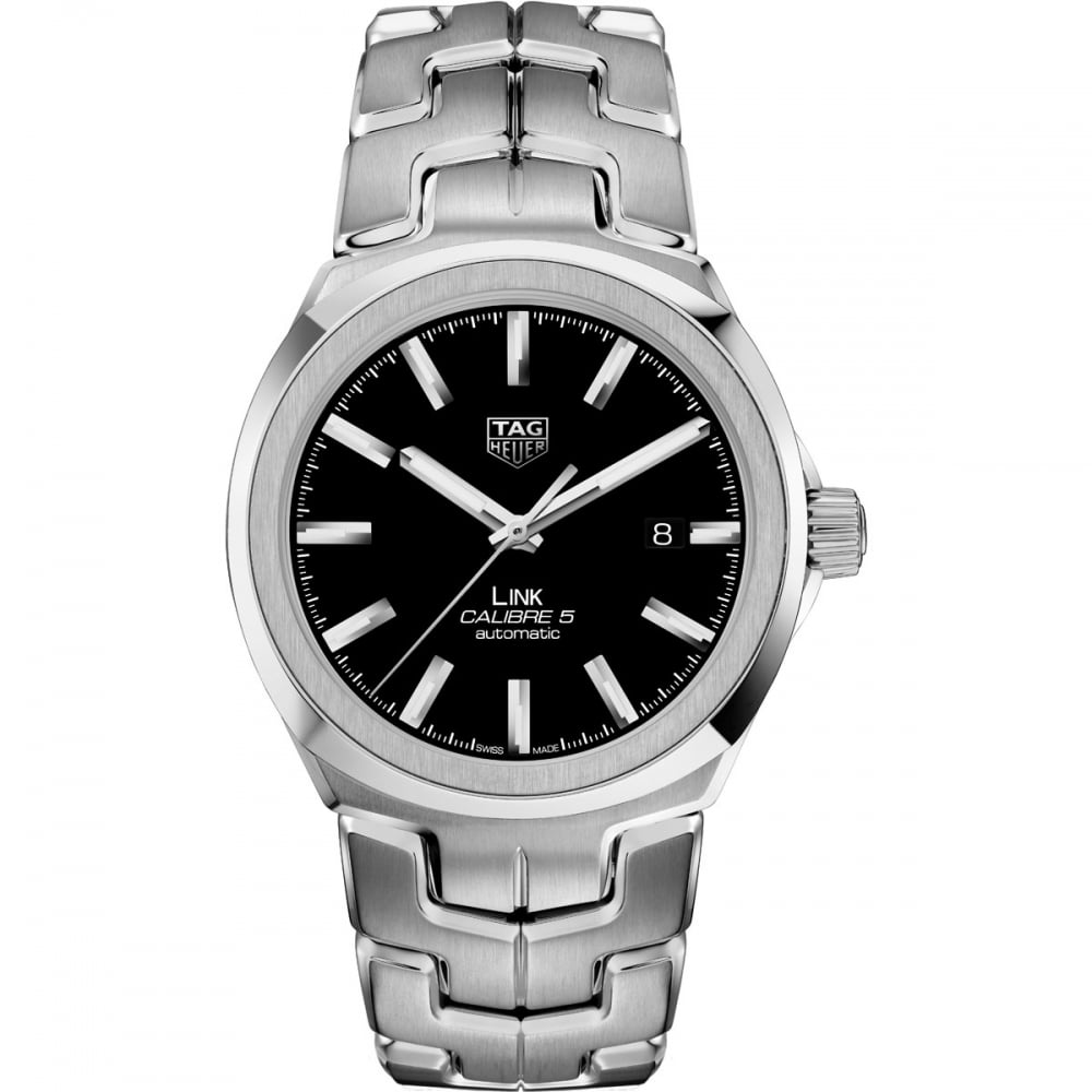 a5a29c7a461 TAG Heuer Men s Steel Link Calibre 5 41mm Automatic Watch - Watches ...