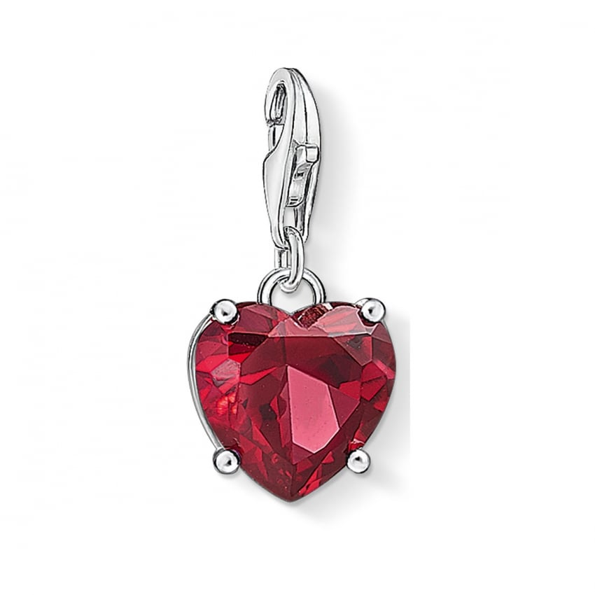 Thomas Sabo 2018 GCC Red Corundum Heart Charm 1566-011-10