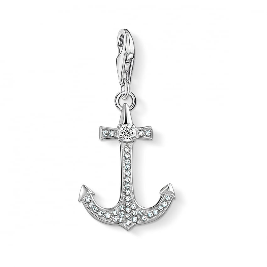Thomas Sabo 2018 GCC Stone Set Anchor Charm 1524-051-14