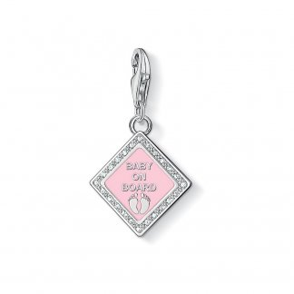 Baby Girl On Board Charm 1117-041-9