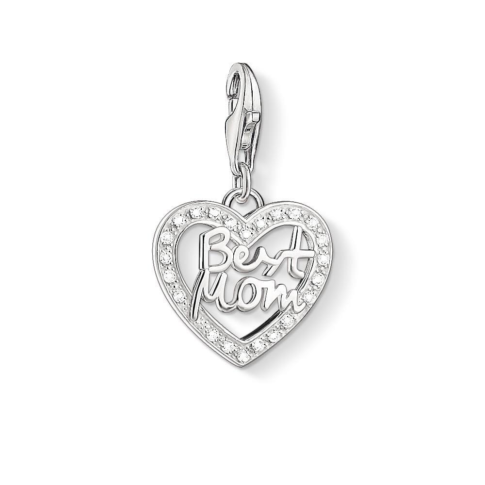 7bb129056e7e4 Thomas Sabo Best Mom Heart Charm