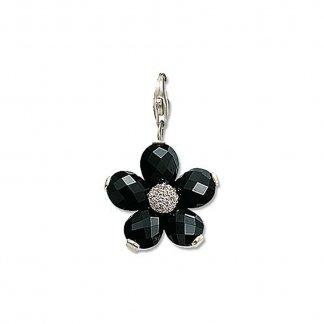 Black Crystal Pendant T0124-051-18