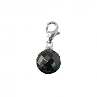 Black Obsidian Ball Pendant T0297-023-11