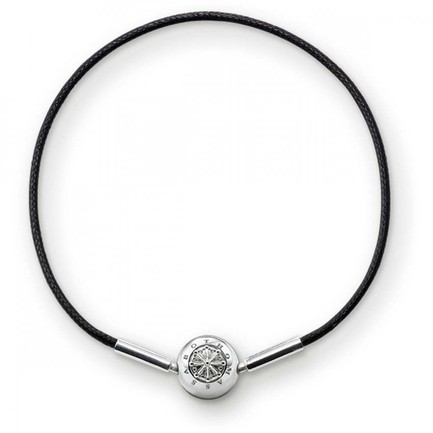 Thomas Sabo Black Waxed Cotton Bracelet KA0003-653-11