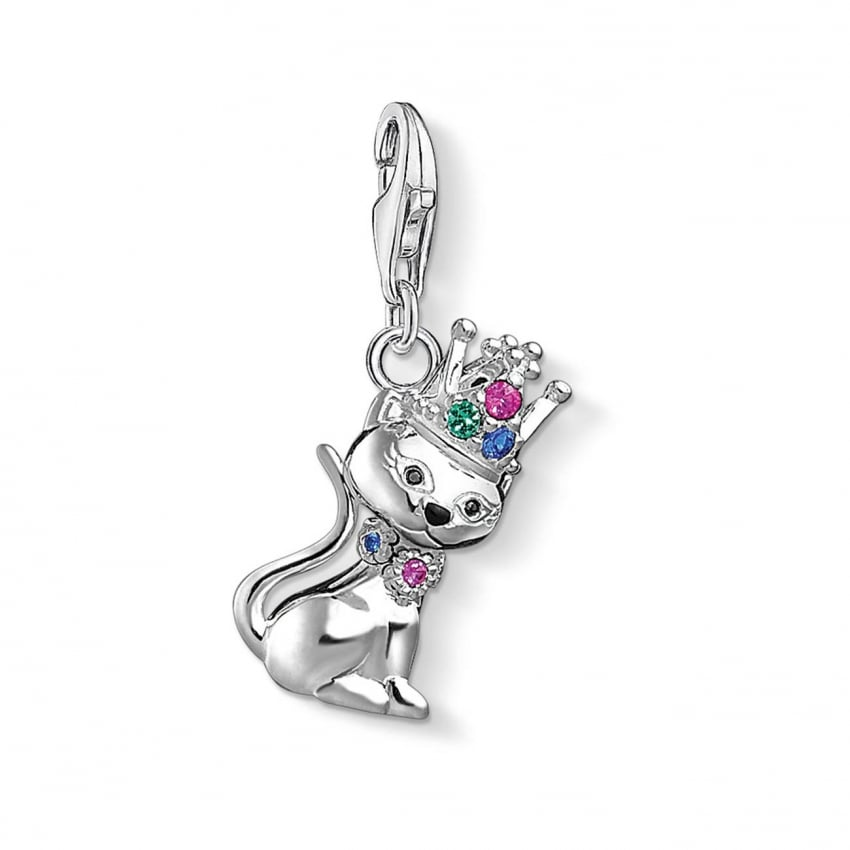 Thomas Sabo Cat with Crown Charm 1486-338-7