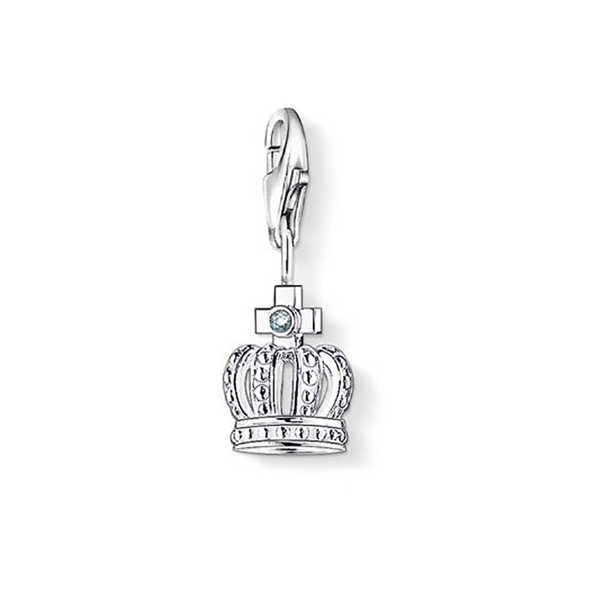 thomas sabo charm club diamond crown charm jewellery from francis gaye jewellers uk. Black Bedroom Furniture Sets. Home Design Ideas