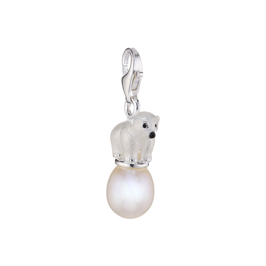 thomas sabo charm club polar bear charm with pearl jewellery from francis gaye jewellers uk. Black Bedroom Furniture Sets. Home Design Ideas