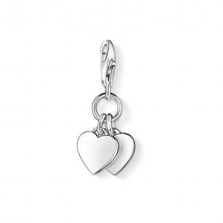 Double Heart Charm 0836-001-12