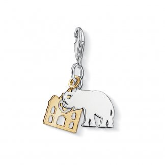Elephant & Gold Temple Charm 1109-413-12